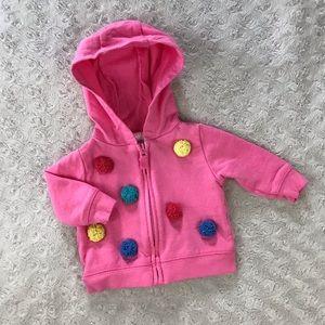 Carter's Hooded Jacket Pink Newborn